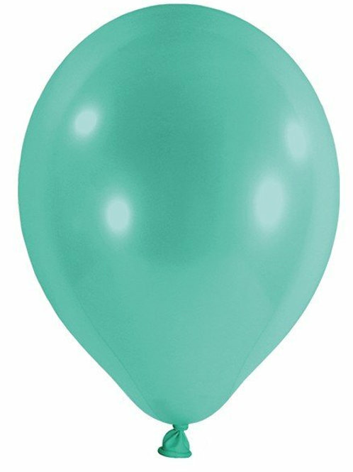 20 Latex-Ballons, Standardfarbe: türkis