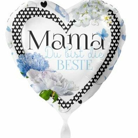 """Folien-Herzballon """"Mama, Du bist die Beste"""""""