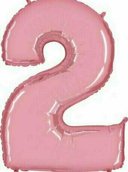 """Riesenzahl """"2"""" - rosa"""