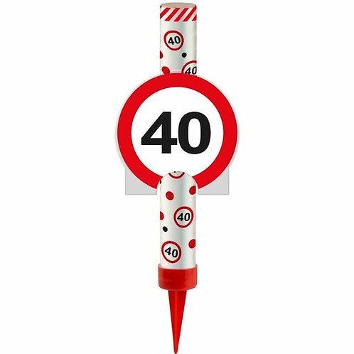 "Kuchen- oder Eisfontäne Verkehrsschild ""40"""