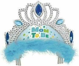 """Mom to be"" Krönchen in hellblau"