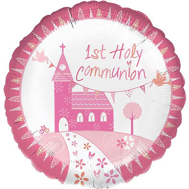 Folienballon zur Erstkommunion, rosa