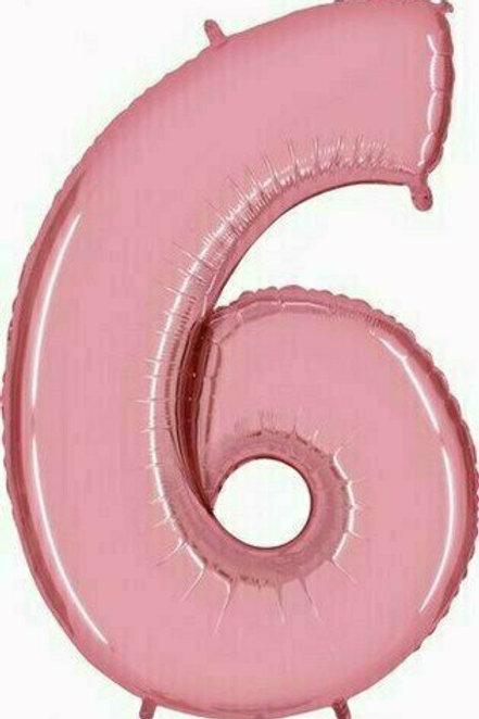 """Riesenzahl """"6"""" - rosa"""