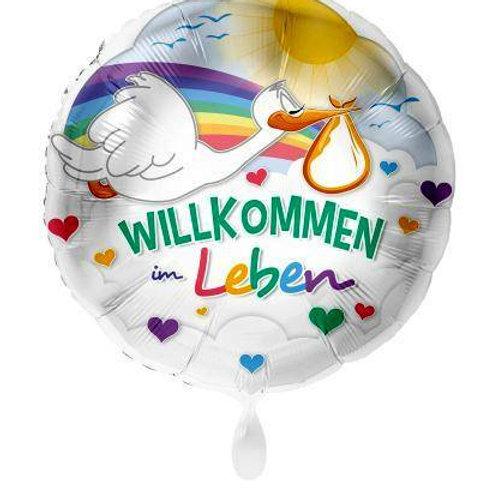 Folienballon Willkommen im Leben