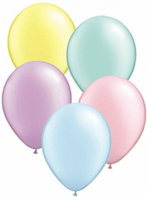 20 Latex-Ballons, Standardfarbe: pastellfarbig