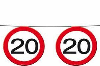 """Geburtstagsgirlande Verkehrsschild """"20"""""""