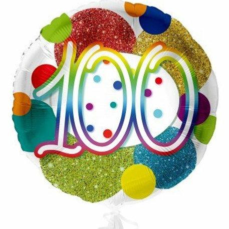 """Folienballon """"100"""""""