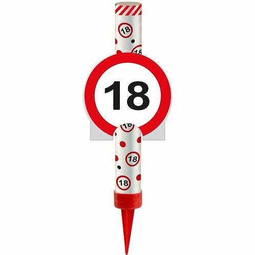 "Kuchen- oder Eisfontäne Verkehrsschild ""18"""