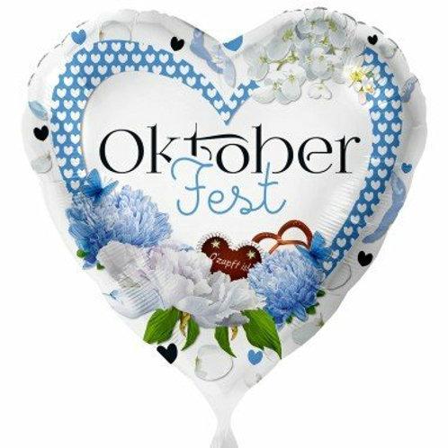 "Folienballon ""Oktoberfest"", herzförmig"