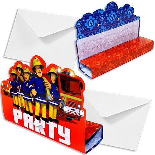 Einladungskarten Feuerwehrmann Sam