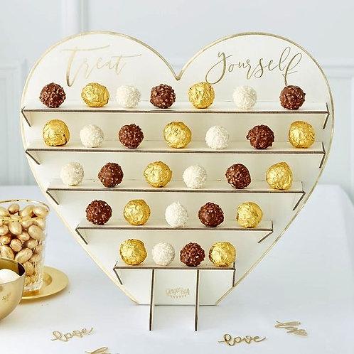 Süßigkeitenständer, herzförmig