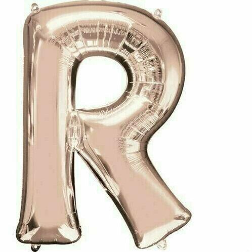 """Riesenbuchstabe """"R"""" - roségold"""