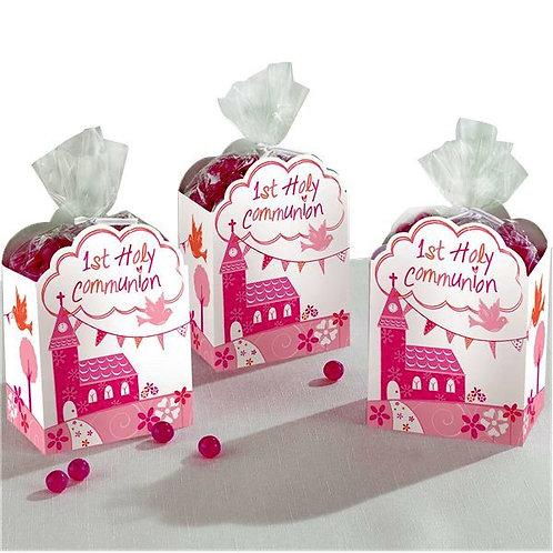 Bonbonieren zur Erstkommunion, rosa, 8er Pack