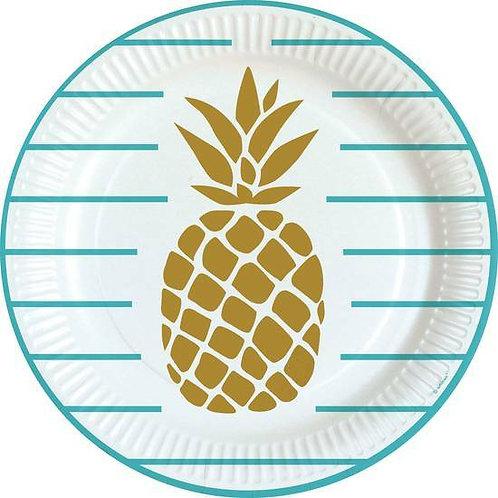 Teller Ananas