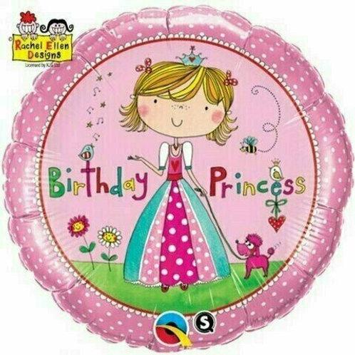 Folienballon Birthday Princess