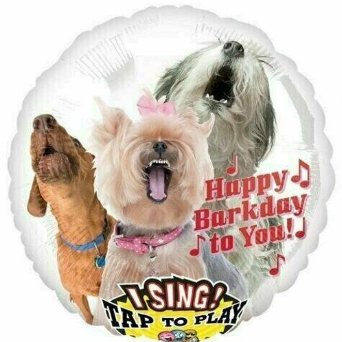 "Musikballon ""Gratulierende Hunde"""