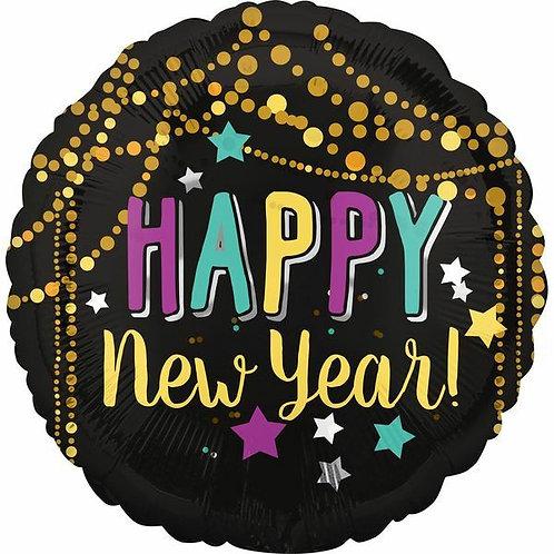 "Folienballon ""Happy New Year"" Goldketten"