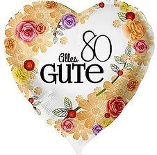 Dekoration zum 80. Geburtstag