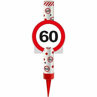 "Kuchen- oder Eisfontäne Verkehrsschild ""60"""