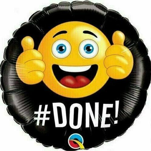 """Folienballon """"#Done!/Geschafft!"""""""