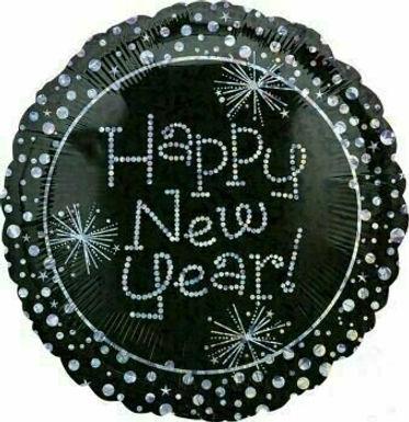"Folienballon ""Happy New Year Diamonds"""