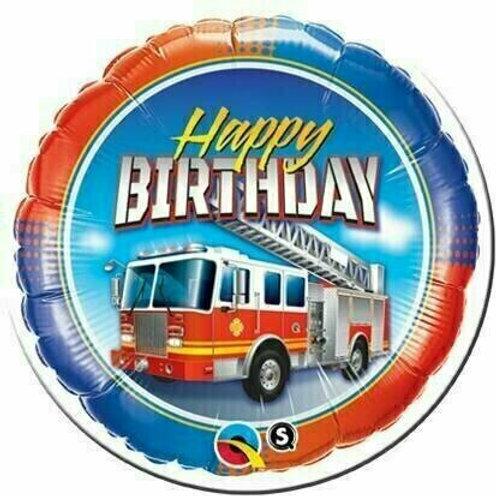 Folienballon Birthday Feuerwehr