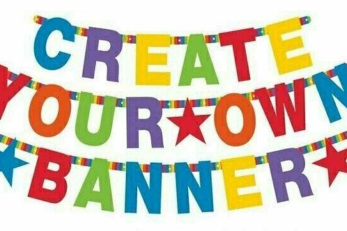 "Girlande ""Create your own banner"" - bunt"