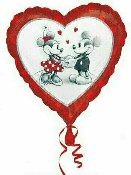 """Folien-Herzballon """"Mickey und Minnie in Love"""""""