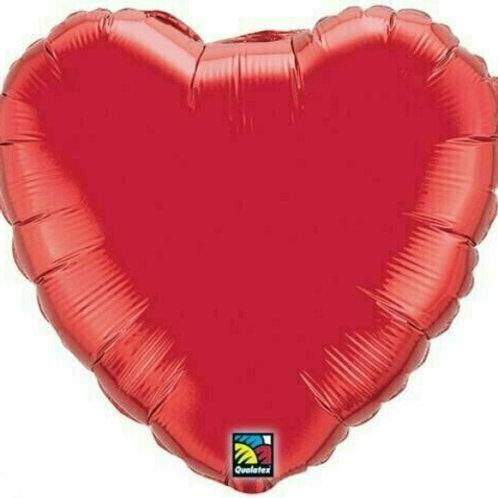Herzballon, rot (unifarben)