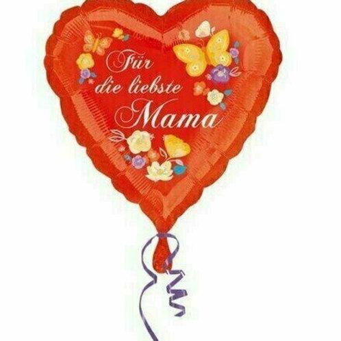 Folien-Herzballon: Für die liebste Mama