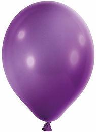 20 Latex-Ballons, Metallicfarbe: flieder