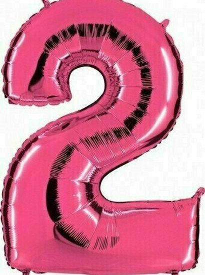 """Riesenzahl """"2"""" - pink"""