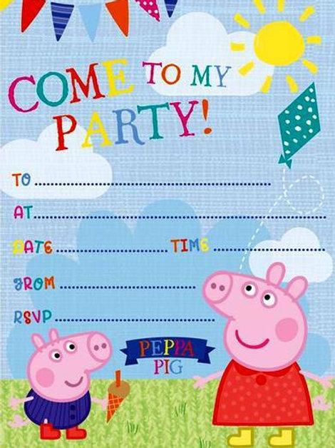 Einladungskarten Peppa Wutz