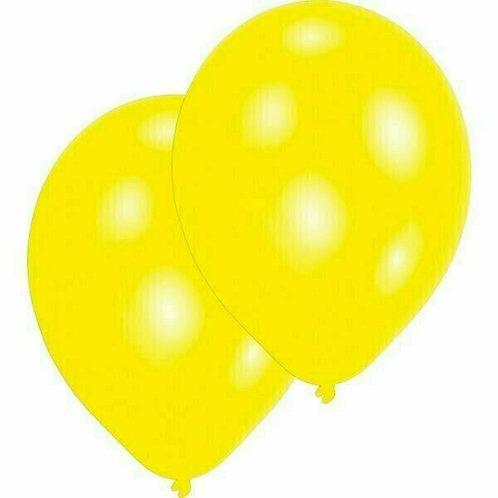 20 Latex-Ballons, Standardfarbe: gelb