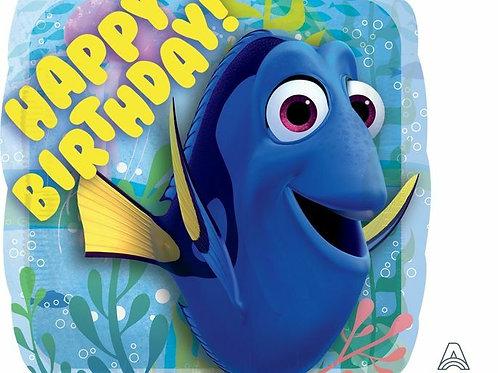 Folienballon Happy Birthday, Dory