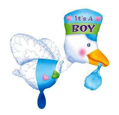 """XXL-Ballon """"It's a boy"""" - Storch"""
