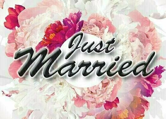 20er-Packung Weitflugkarten: Just Married - Blumenstrauß