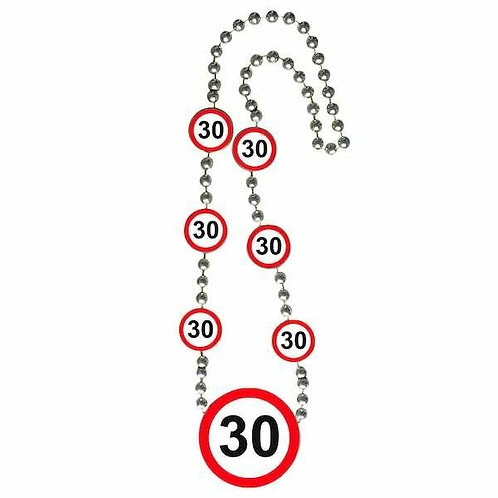 """Halskette Verkehrsschild """"30"""""""