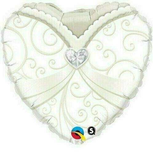 Herz-Brautkleid