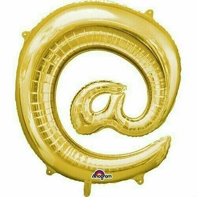 """Riesensonderzeichen """"@"""" - gold"""