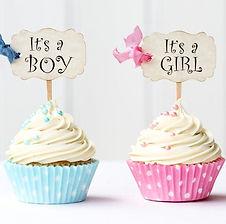 Dekorations-Accessoires für die Babyparty Gender Reveal