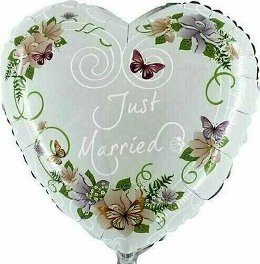 Herz - Just married, Flowers