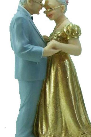 Brautpaar Goldhochzeit, tanzend