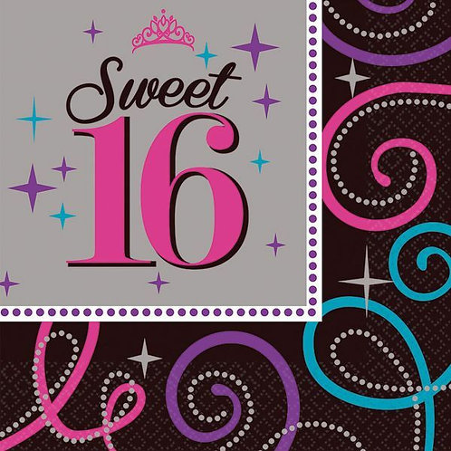 Servietten Sweet Sixteen