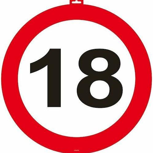 """Tür- Verkehrsschild """"18"""""""