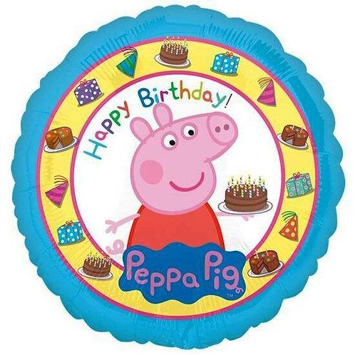"Folienballon Peppa Wutz ""Happy Birthday!"