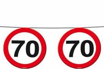"""Geburtstagsgirlande Verkehrsschild """"70"""""""