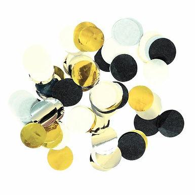 Konfetti schwarz/gold/silber/weiss