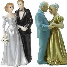 Hier finden Sie Dekorations-Accessoires zur Silbernen und Goldenen Hochzeit