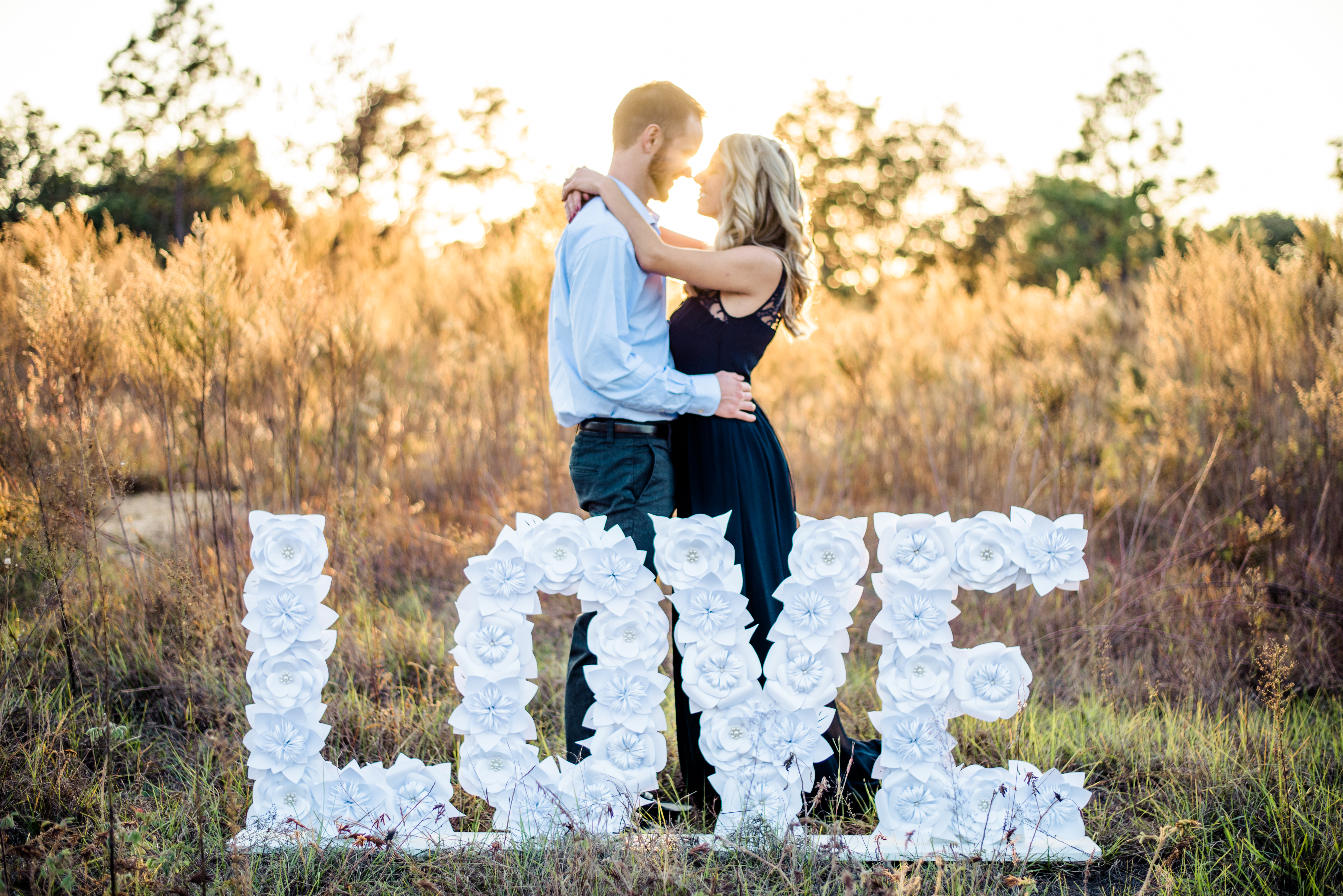Engagement LOVE sign